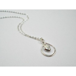 Infinity Necklace, Heart Necklace, Silver Infinity Heart Necklace, Valentine's Day, Gift for Women, Gift for Her, Girlfriend, Anniversary found on Bargain Bro from  for $27