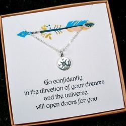 Graduation Gift, Go confidently in the direction, Daughter, Graduation Gift for Her, Sister, Granddaughter, Sterling Silver Compass Necklace found on Bargain Bro from  for $29