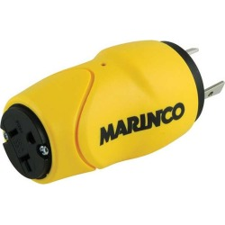 Marinco One Piece Adapter 15/20A 125V Female to 30A 125V Male - S30-15