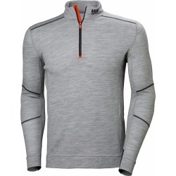 Helly Hansen Lifa Merino Long Sleeve Half Zip Shirt - Grey - XS found on MODAPINS from Tackle Direct for USD $90.00