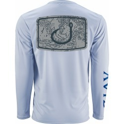 AVID Sportswear Nautical Icon AviDry Long Sleeve Shirt - Ice Blue - 2XL found on Bargain Bro from Tackle Direct for USD $22.79