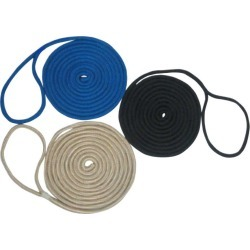 Unicord Double Braid Nylon Dock Line - 3/8 in. x 20 ft. - White found on Bargain Bro India from Tackle Direct for $12.99