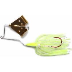 MegaStrike Cavitron BuzzBait 1/4oz Gold Blade Chartreuse/White Skirt