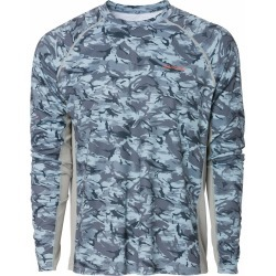 Grundens Solstrale Long Sleeve Crew Shirt - Refraction Camo Dark Slate - L found on Bargain Bro from Tackle Direct for USD $37.99