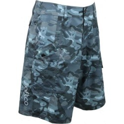 AFTCO M82 Tactical Fishing Shorts - Blue Camo - Size 40