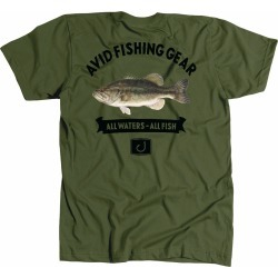 AVID Sportswear Bass Mount T-Shirt - Military - X-Large found on Bargain Bro from Tackle Direct for USD $20.51