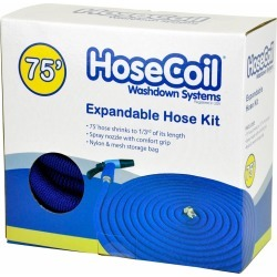 HoseCoil Expandable Hose Kit w/ Nozzle and Storage Bag - 75 ft. found on Bargain Bro Philippines from Tackle Direct for $49.99
