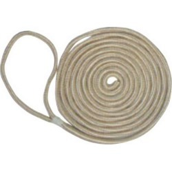Unicord Double Braid Nylon Dock Line - 3/8 in. x 15 ft. - Gold & White found on Bargain Bro India from Tackle Direct for $9.99
