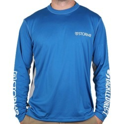 Stormr UV Shield TackleDirect Logo Long Sleeve Shirt - Blue - Large found on Bargain Bro Philippines from Tackle Direct for $23.99
