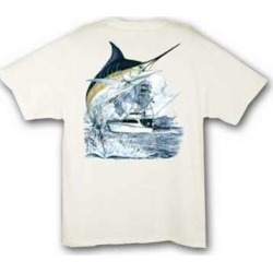 Aftco MTH1301 Guy Harvey Marlin Boat Tee Shirt - XXL