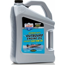 Lucas Oil Outboard Engine Oil Synthetic SAE 10W30 - 5 qt.