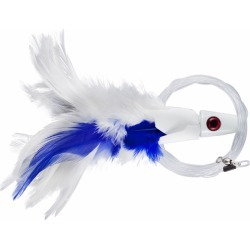 C & H Lures No Alibi Trolling Feather Rigged - 1/4 oz. - White/Blue