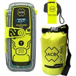 ACR ResQLink View Personal Locator Beacon w/ Res-Q Whistle & Dry Bag
