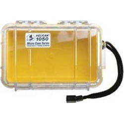 Pelican 1050 Micro Case Yellow With Clear Lid