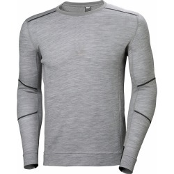 Helly Hansen Lifa Merino Long Sleeve Crewneck Shirts - Grey - 2XL found on MODAPINS from Tackle Direct for USD $80.00