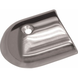 TACO Polished Stainless Steel 2-19/64in Rub Rail End Cap