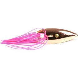 Gator Lures 1/4 oz. Copper Weedless Spoon with Skirt Pink Skirt found on Bargain Bro India from Tackle Direct for $4.69
