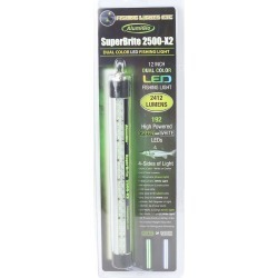 "AlumiGlo SuperBrite 2500-X2 Dual Color 12"" Green/White LED Light"