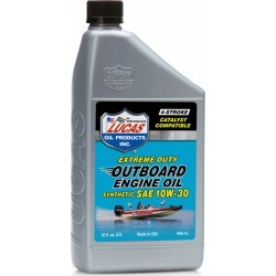 Lucas Oil Outboard Engine Oil Synthetic SAE 10W30 - 1 qt.