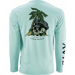 AVID Sportswear Fish or Die AviDry Long Sleeve Shirt - Seafoam - XL found on Bargain Bro from Tackle Direct for USD $34.19