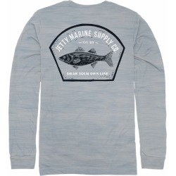 Jetty Striper UV Solar Long Sleeve Shirt - Fog - Medium found on Bargain Bro from Tackle Direct for USD $34.16
