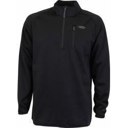 Aftco Vista Performance 1/4 Zip Long Sleeve Shirt - Black - 3XL