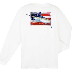Aftco Guy Harvey Black Magic Long Sleeve Shirt - White - M