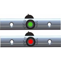 """TACO Rub Rail Mt LED Nav Set - 4"""" w/Deutsch Port, Starboard - F38-6810B-1"""
