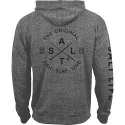 Salt Life Original Salt Zip Hoodie - Graphite Snow Heather - XL
