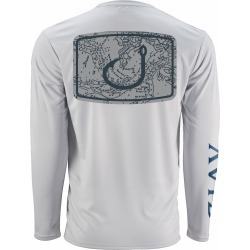 AVID Sportswear Nautical Icon AviDry Long Sleeve Shirt - Glacier Grey - L found on Bargain Bro from Tackle Direct for USD $34.19
