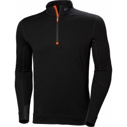 Helly Hansen Lifa Merino Long Sleeve Half Zip Shirt - Black - XS found on MODAPINS from Tackle Direct for USD $90.00