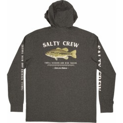 Salty Crew Green Bass Hood Tech T-Shirt - Charcoal - XL found on Bargain Bro from Tackle Direct for USD $34.20