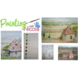 Paint this watercolor painting in 8 easy steps. Just COPY ME