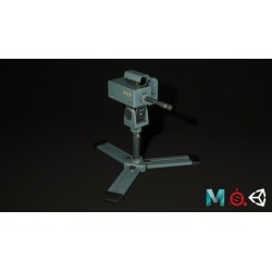 AAA Video Game 3D Asset Creation - Turret