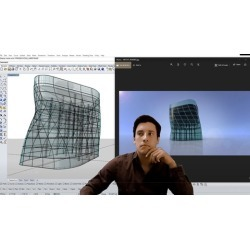 Architectural Twisted Building with Skin Rhino 3D