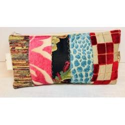 How to Sew a Patchwork Scrap Zipper Bag