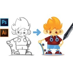 Drawing Characters with Photoshop and Illustrator CC