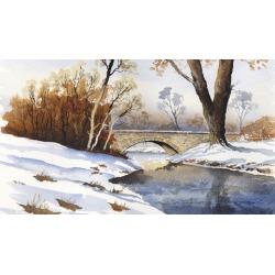 Paint A Winter Scene In Watercolours