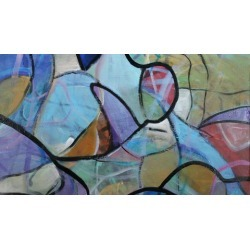 Abstract Painting - Stained Glass Method