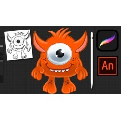 Create animated 2D characters using Procreate and Animate CC