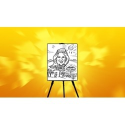 Drawing Fun Caricatures! :) -The Best Method! found on Bargain Bro India from Udemy for $24.99