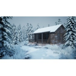 Realistic Snowy Game Environment Creation