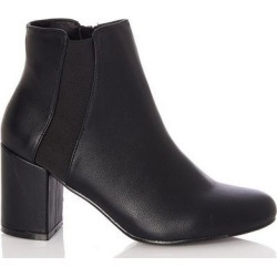 Quiz Black Elastic Panel Heel Ankle Boots found on Bargain Bro UK from Quiz Clothing
