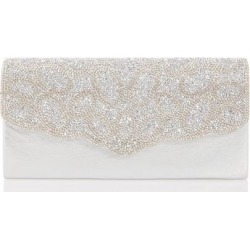 Quiz Silver Diamante Scallop Edge Clutch Bag found on Bargain Bro UK from Quiz Clothing