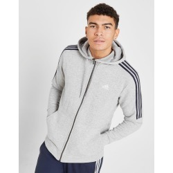 adidas Essential Full Zip Hoodie - Only at JD Australia - Grey/Navy