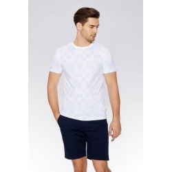 Quiz White & Blue Geometric Print T-Shirt found on Bargain Bro UK from Quiz Clothing