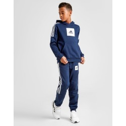 adidas Badge of Sport Overhead Tracksuit Junior - Only at JD Australia - Navy/White - Kids