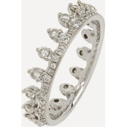 18ct White Gold Crown Diamond Ring found on Bargain Bro UK from Liberty.co.uk