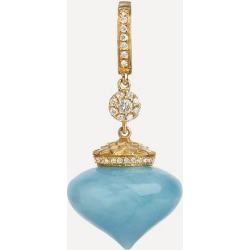 18ct Gold Touch Wood Diamond and Aquamarine Charm found on Bargain Bro UK from Liberty.co.uk