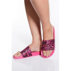Quiz Hot Pink Snake Print Sandals found on Bargain Bro UK from Quiz Clothing